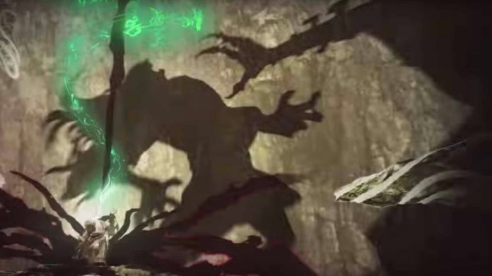 Breath of the Wild 2 trailer screenshot showing a mysterious shadow