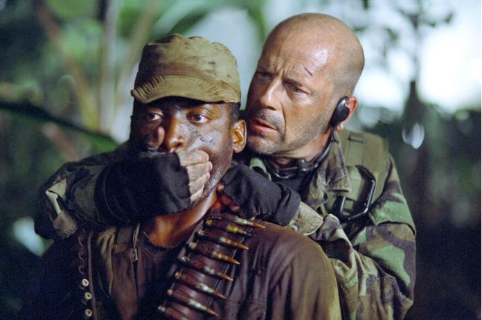 Bruce Willis in Tears of the Sun, one of the best Netflix war movies