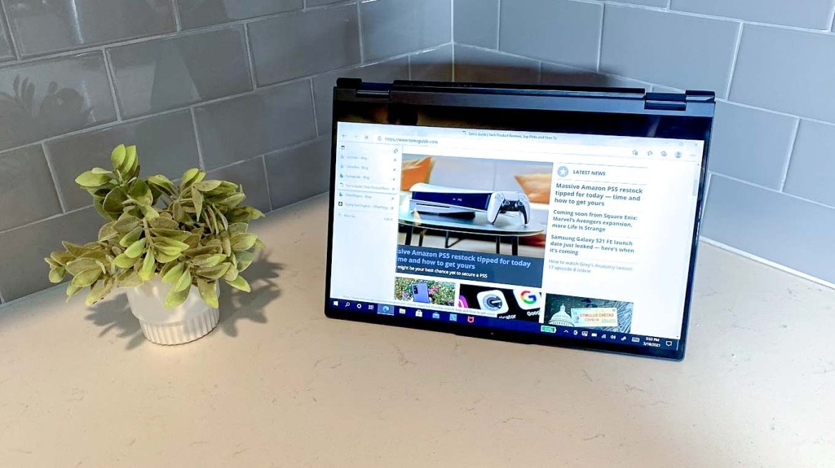 Lenovo ThinkBook 14s Yoga review tablet mode