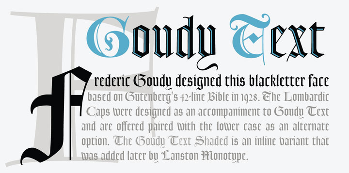 Old English fonts: LTC Goudy Text