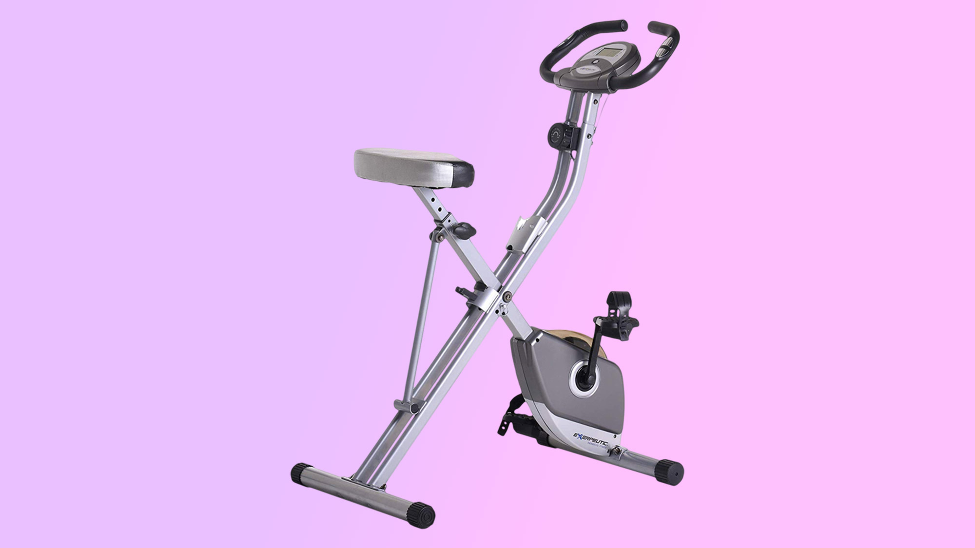 Best home gym equipment: Exerpeutic Folding Magnetic Upright Exercise Bike