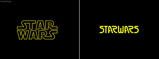 Star Wars logos: official and redesigned