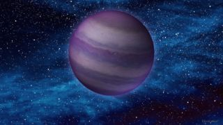 This artist's illustration shows a dim, cold brown dwarf in space. Brown dwarfs form like stars, but do not have enough mass to ignite nuclear fusion in their cores – the process that causes stars to burn. As a result they share some physical characteristics with massive planets, like Jupiter.