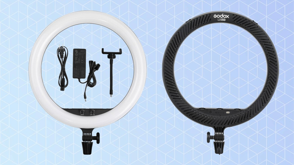 Best ring lights: Godox LR150 18-inch LED Ring Light with 78-inch Extendable Tripod Stand