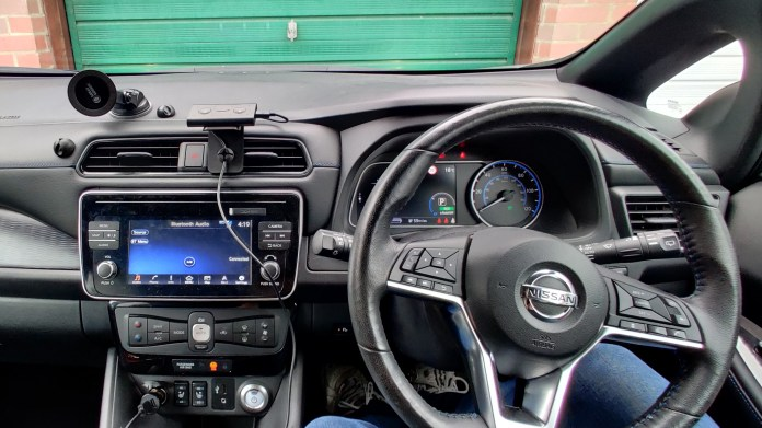 Nissan Leaf cockpit (2019) - right hand drive