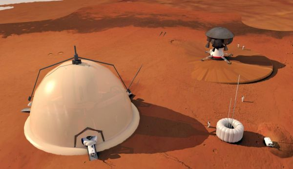 Mars Explorers Could Live in 'Igloo' Near Red Planet's ...