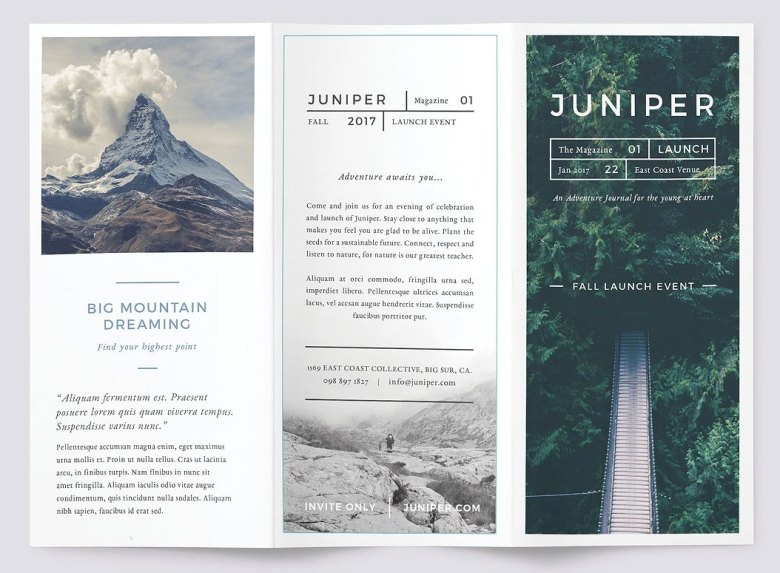Best brochure templates: Juniper