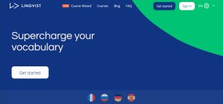 best language learning apps: Lingvist homepage