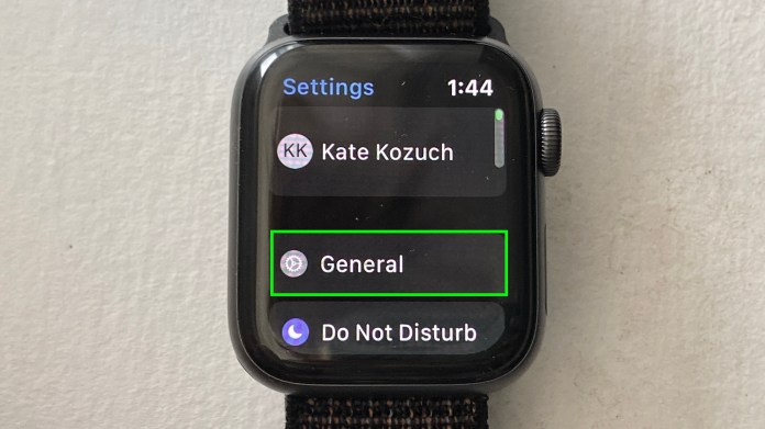 How to reset an Apple Watch — tap general