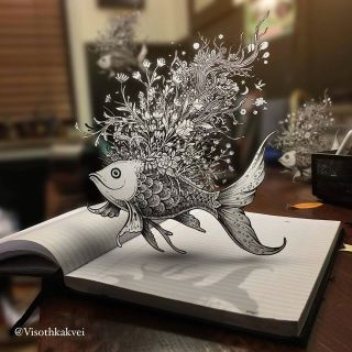 Doodle art: Visoth Kakvei