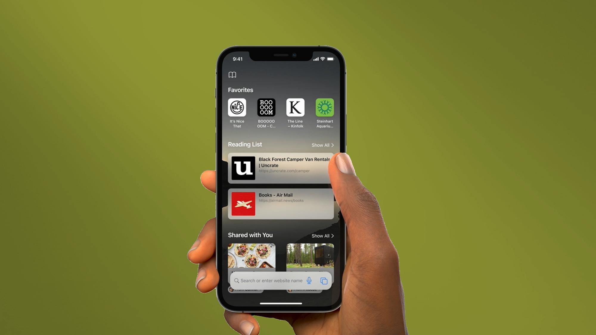 iOS 15 features Safari