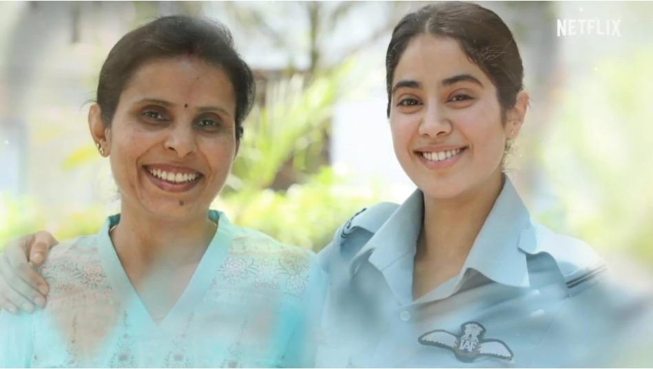 Gunjan Saxena and Janhvi Kapoor