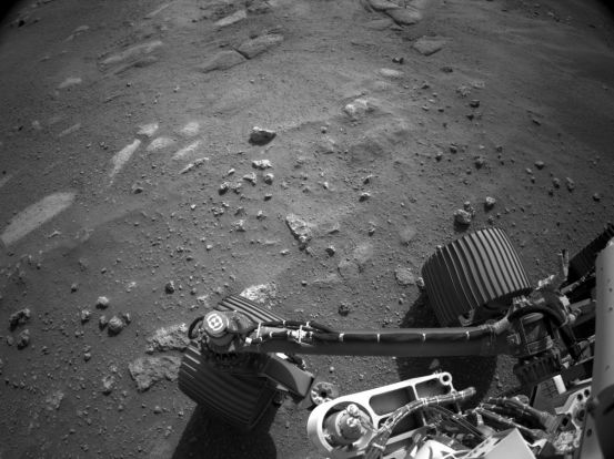 Listen to Mars blowing in these first sounds of the Perseverance rover