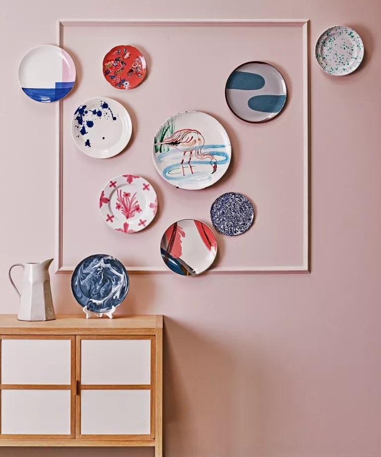 Wall decor ideas with plates