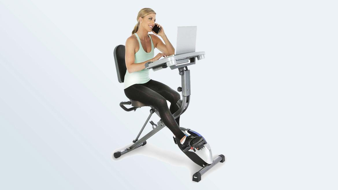 Best Exercise Bikes: Exerpeutic Workfit 1000 Desk Station