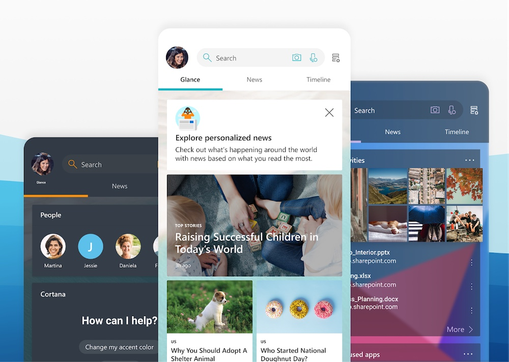 best android launchers: Microsoft Launcher