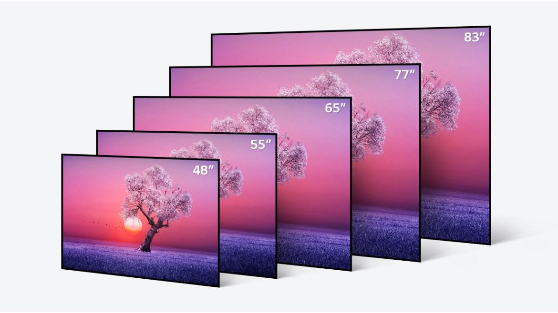 LG C1 OLED TV sizes