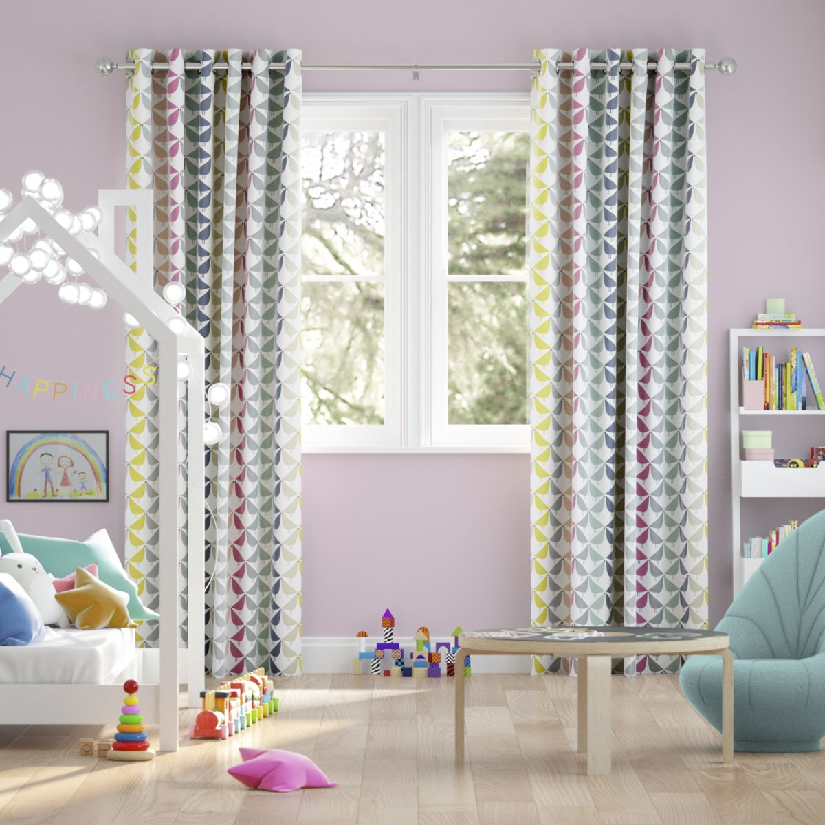 Window treatments for children's bedrooms: 11 wonderful ... on Bedroom Curtain Ideas  id=88279