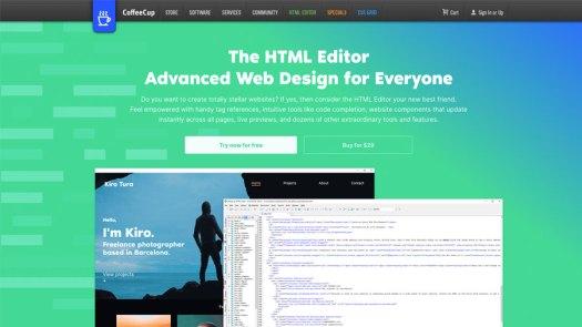 Coffee Cup HTML editor