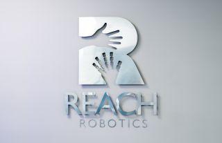 Reach Robotics logo at its Bristol office