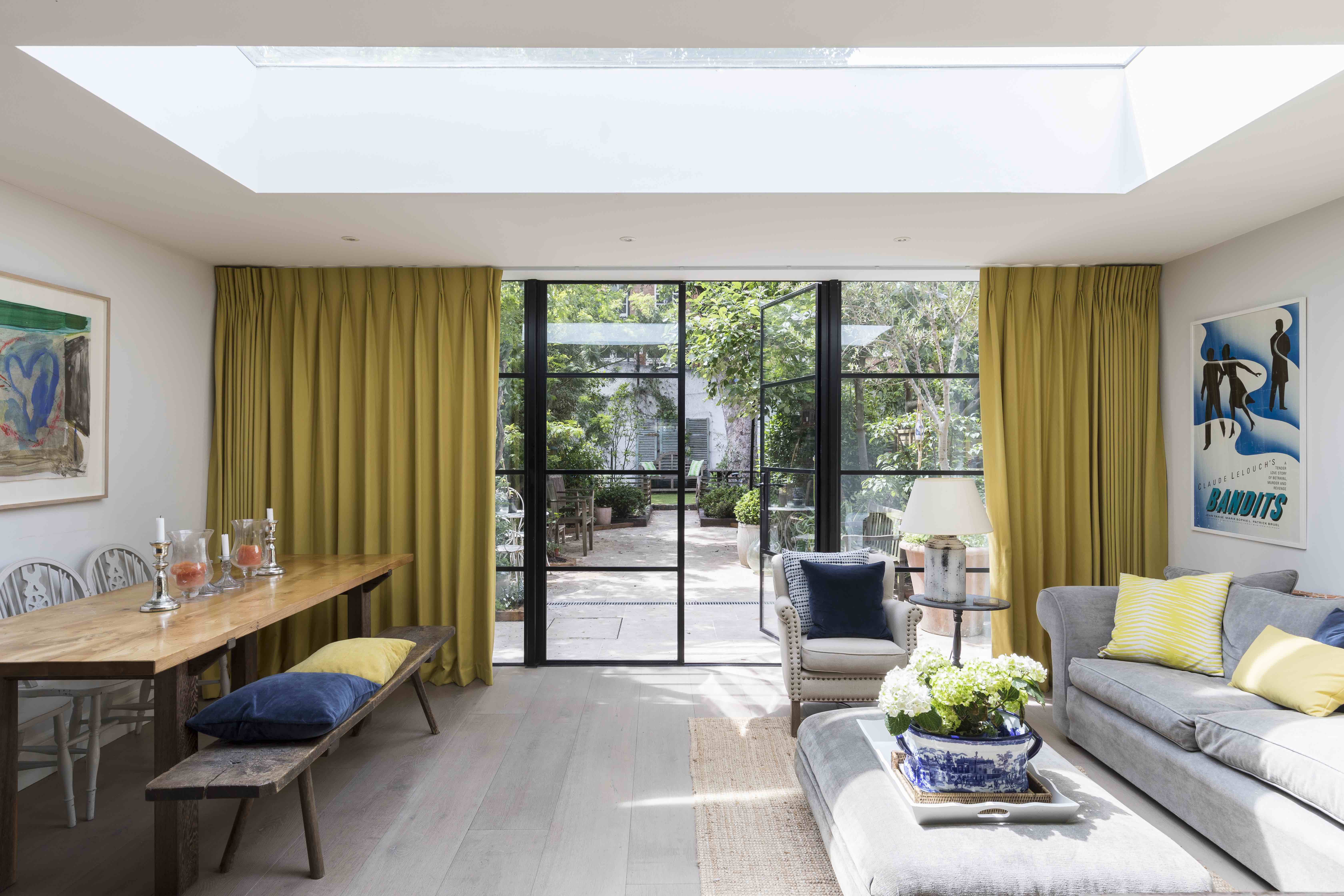 16 Practical And Pretty Door Treatments From Blinds And Curtains To Shutters And Window Film Real Homes