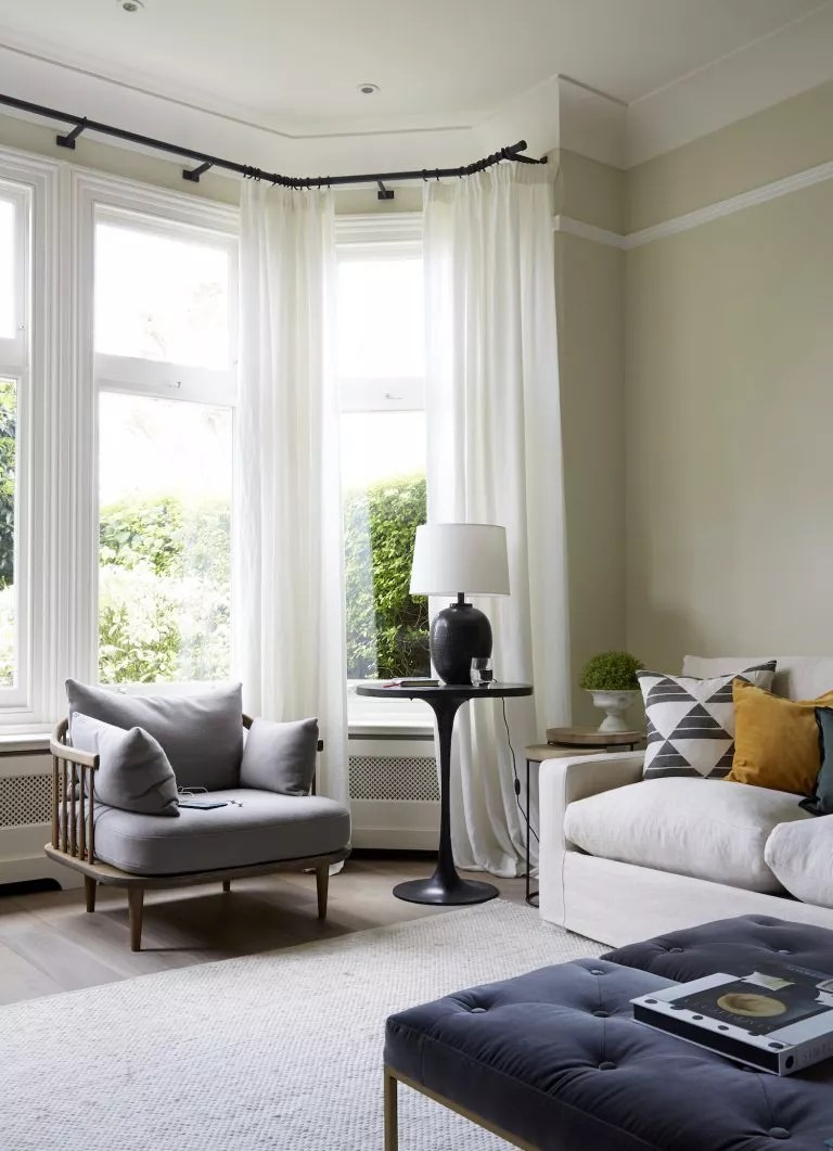living room curtain ideas with sheer summery curtains in white living room