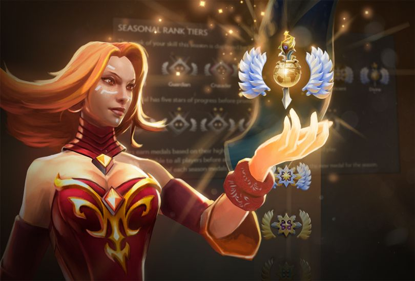 Dota 2 Gets Multi Tiered Rank Medal System PC Gamer