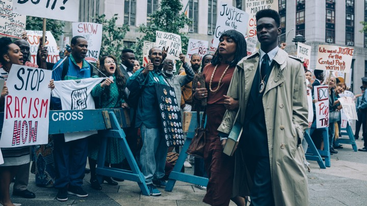 A still from When They See Us, a new TV show on Netflix UK