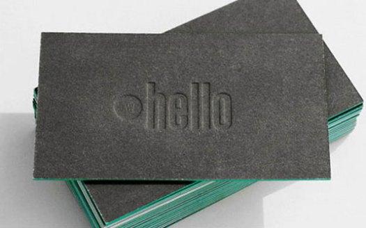 Letterpress business cards: Amy Weibel