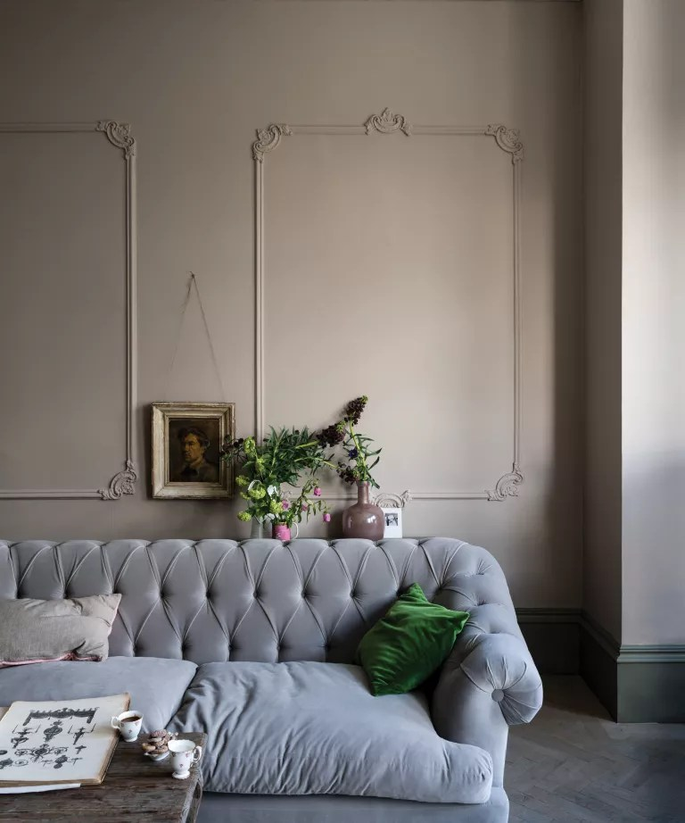 Jitney by Farrow & Ball on the walls of a living room