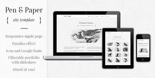 Portfolio WordPress theme - Pen & Paper