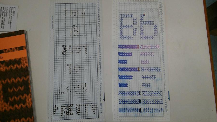 Examples of punch cards