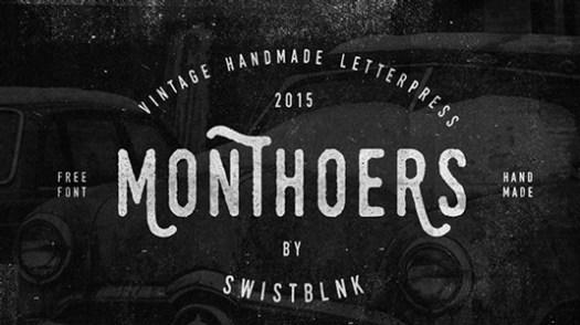 Free retro fonts: Monthoers