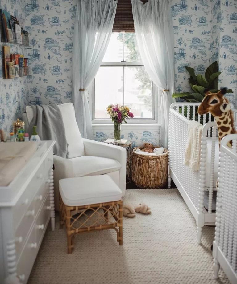 Blue twin nursery idea by Andrea Pion Pierre