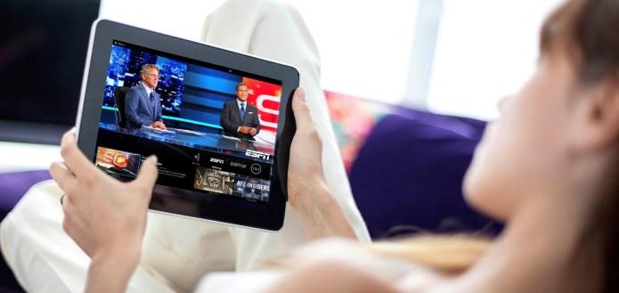 Sling TV on tablet