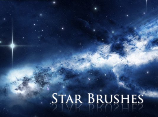 Free Photoshop brushes: star brushes