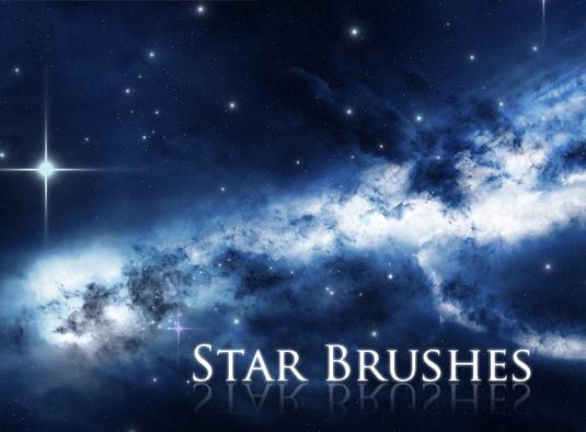Free Photoshop brushes: star brushes