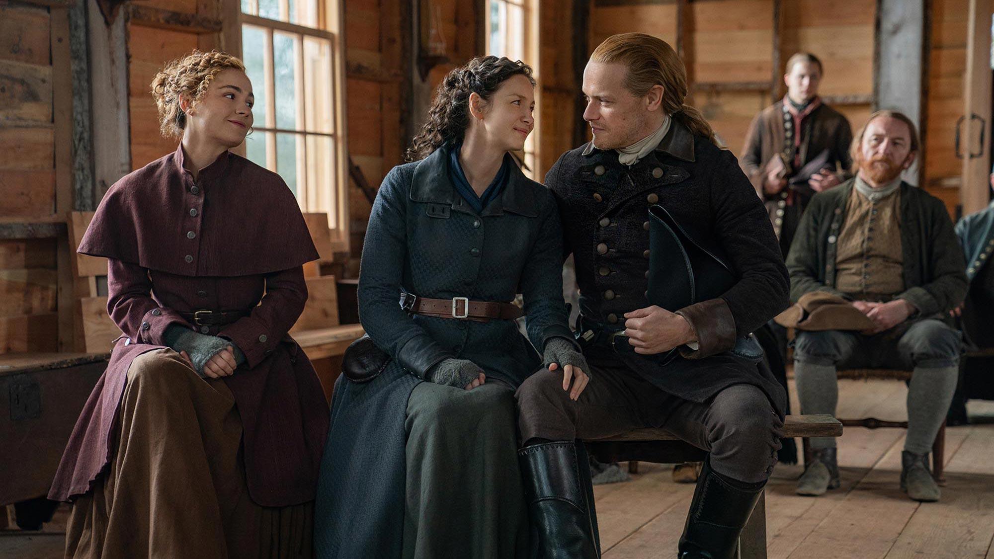 Outlander season 6 photo: Brianna, Claire, Jamie Fraser