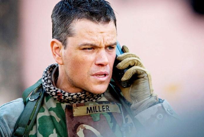 Matt Damon as Chief Warrant Officer Roy Miller in Green Zone, one of the best Netflix war movies