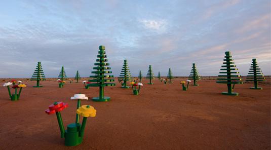 Lego art: Lego forest