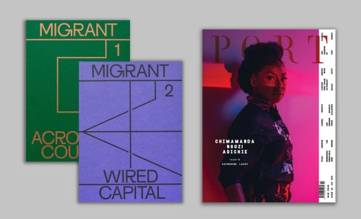 magazine cover: migrant journal