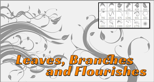 Free Photoshop brushes: flourish