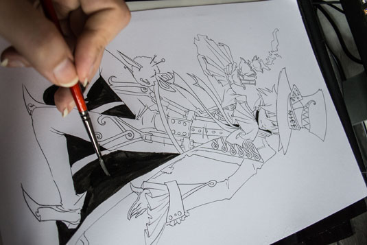How to draw manga - mad hatter shadow
