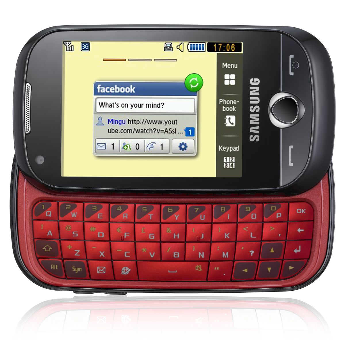 Mobile Phones Qwerty Keyboard And Touchscreen