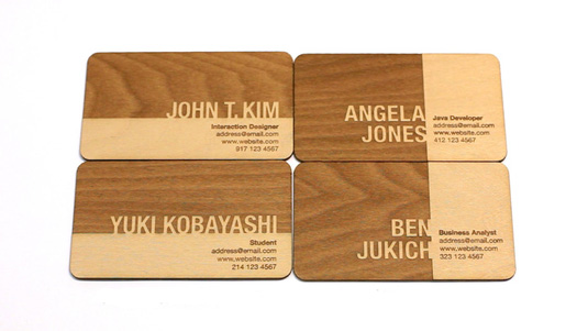 Business cards: John T. Kim