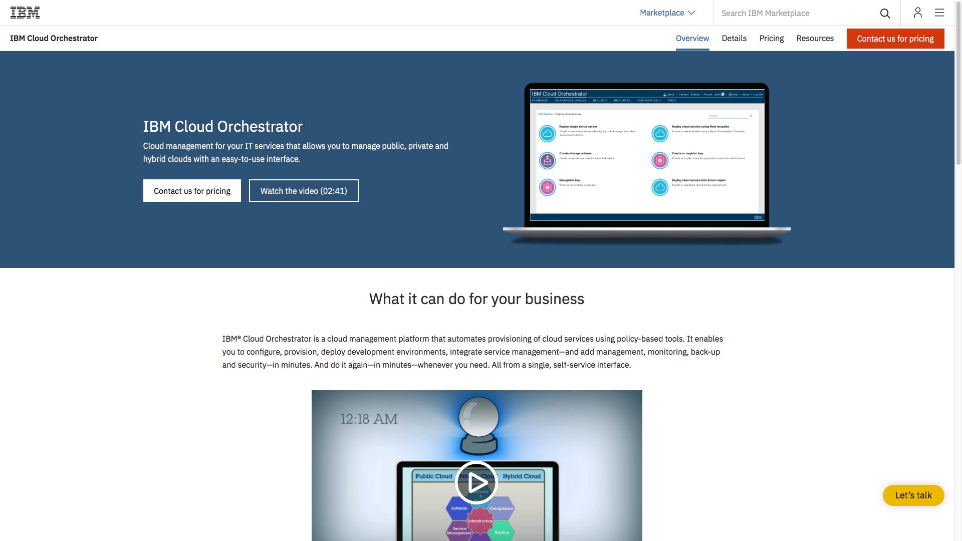 IBM Cloud Orchestrator