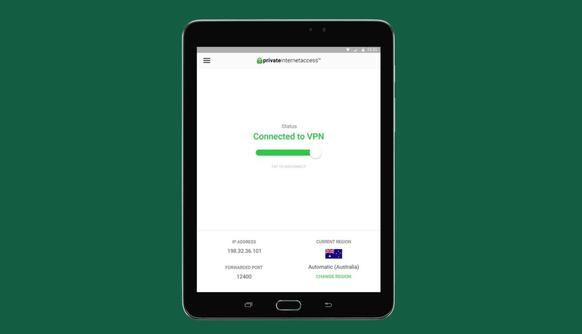 Private Internet Access review - app
