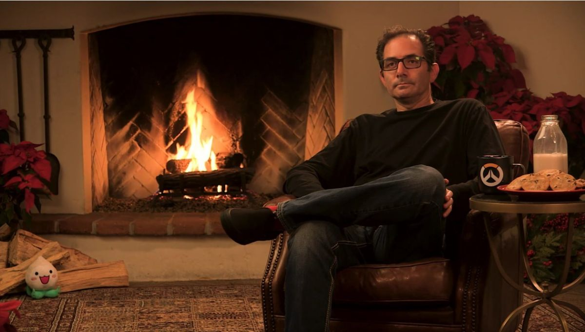 Overwatch Director Jeff Kaplan Is Sitting In Front Of A Fireplace And You Can Watch Updated
