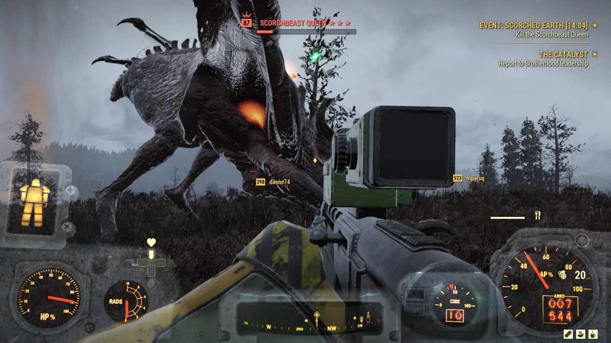 Fallout 76 Steel Reign review — A Scorchbeast battle in Scorched Earth