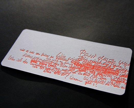 letterpress business cards: Druckerei Eisenhardt